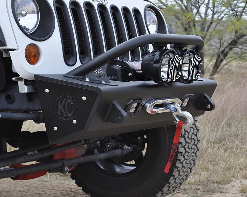 Addictive Desert Designs F9513010101NA Stealth Fighter Front Bumper for 6inch Lights Jeep Wrangler JK 07-18