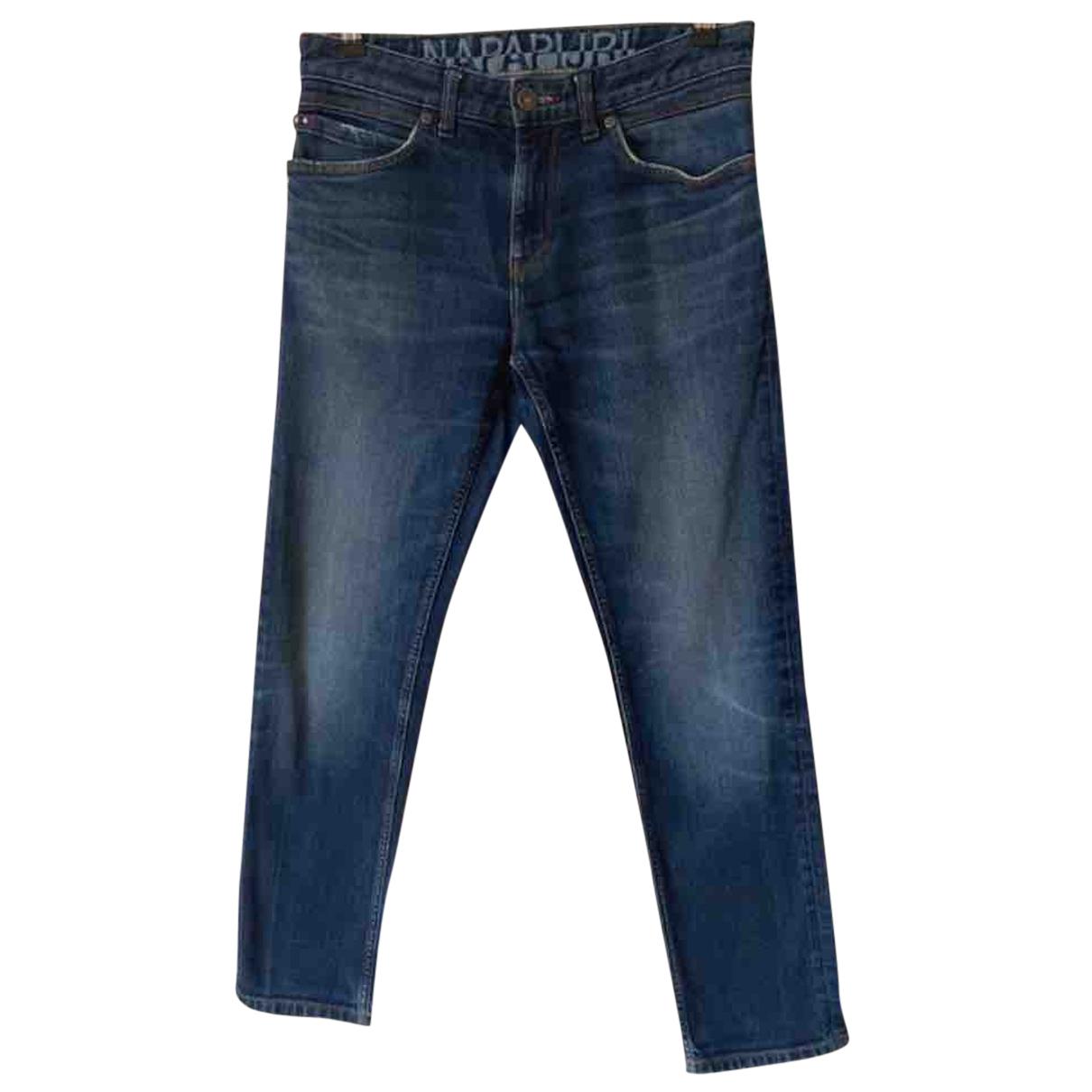 Napapijri - Jean   pour homme en coton - bleu