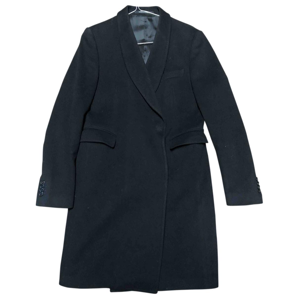 Tagliatore \N Black Wool coat for Women 46 IT