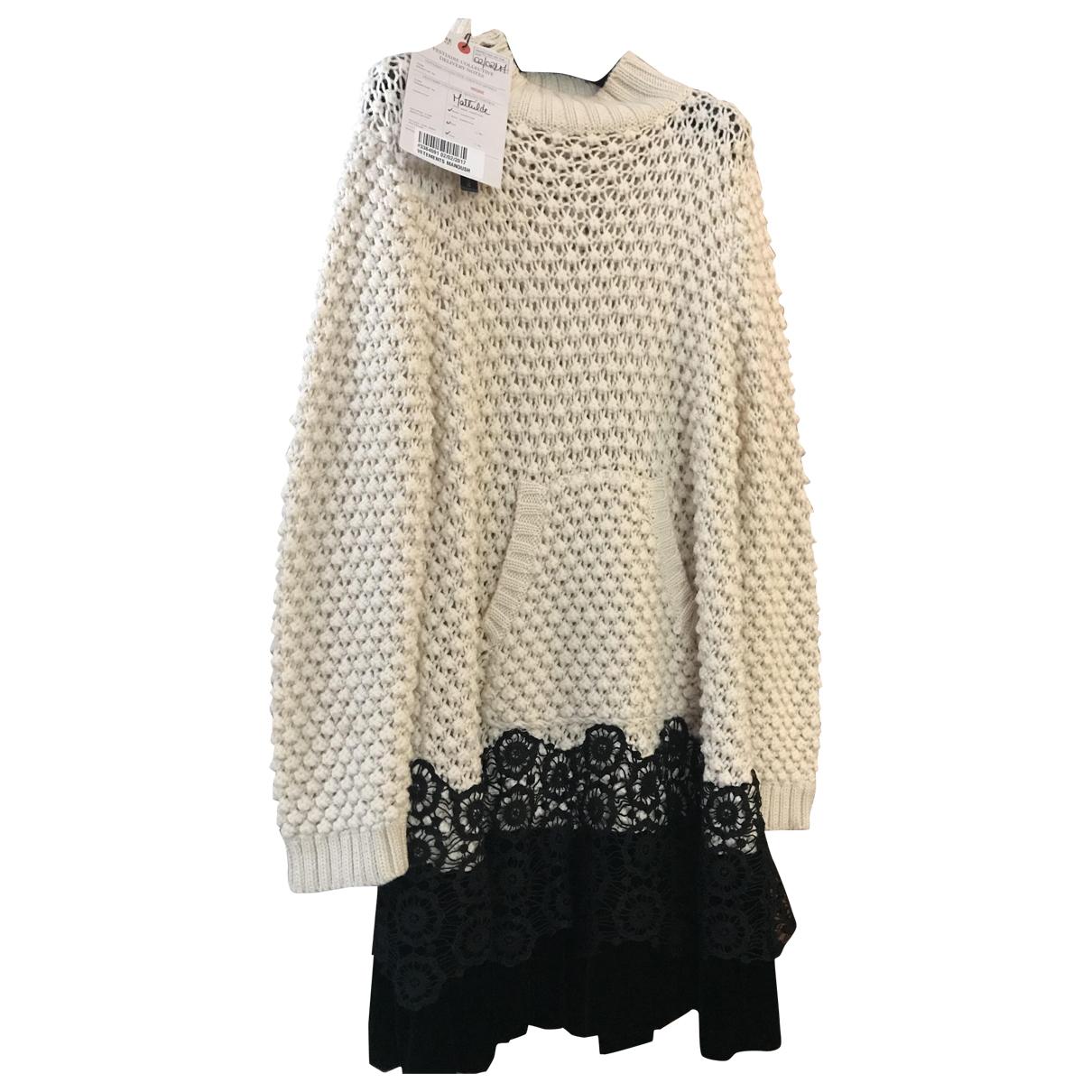 Manoush - Robe   pour femme en laine - ecru