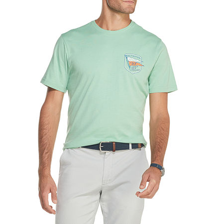 IZOD-Big and Tall Mens Crew Neck Short Sleeve Graphic T-Shirt, 3x-large Tall , Green