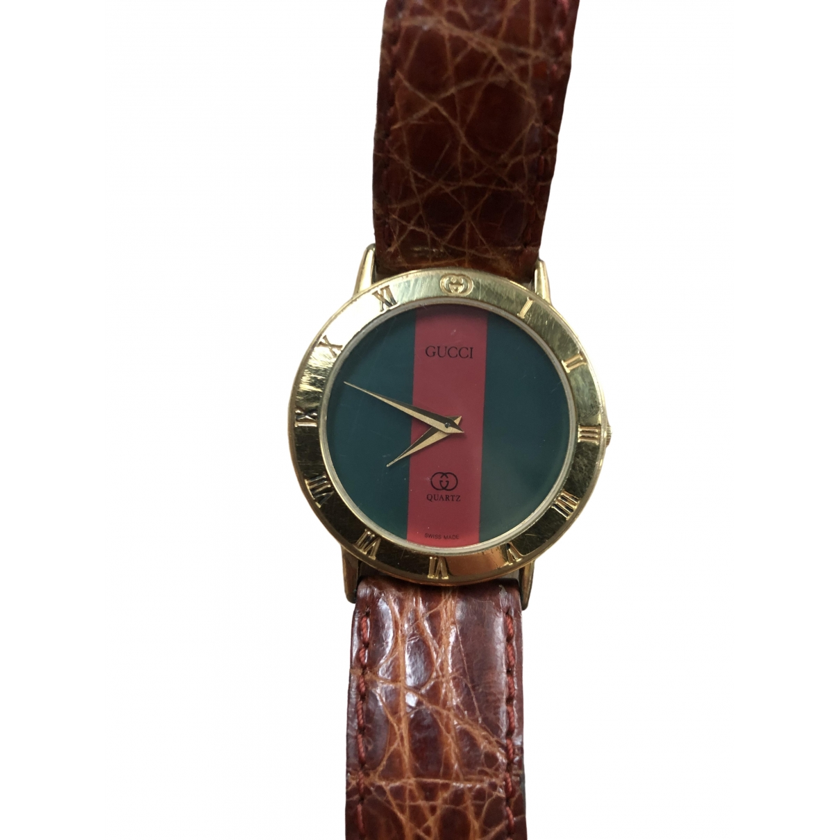 Gucci \N Gold Gold plated watch for Men \N