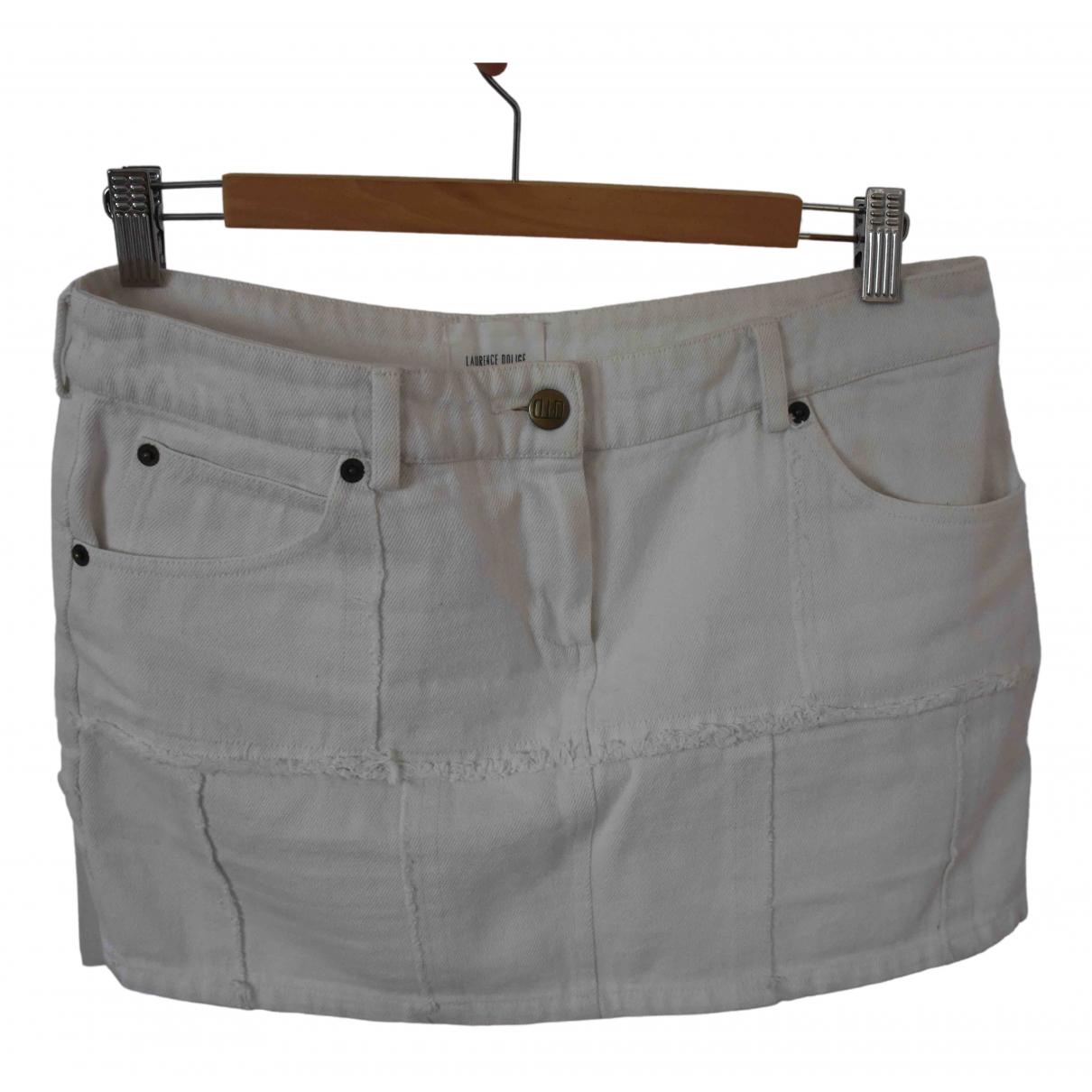 Laurence Dolige \N Rocke in  Ecru Denim - Jeans