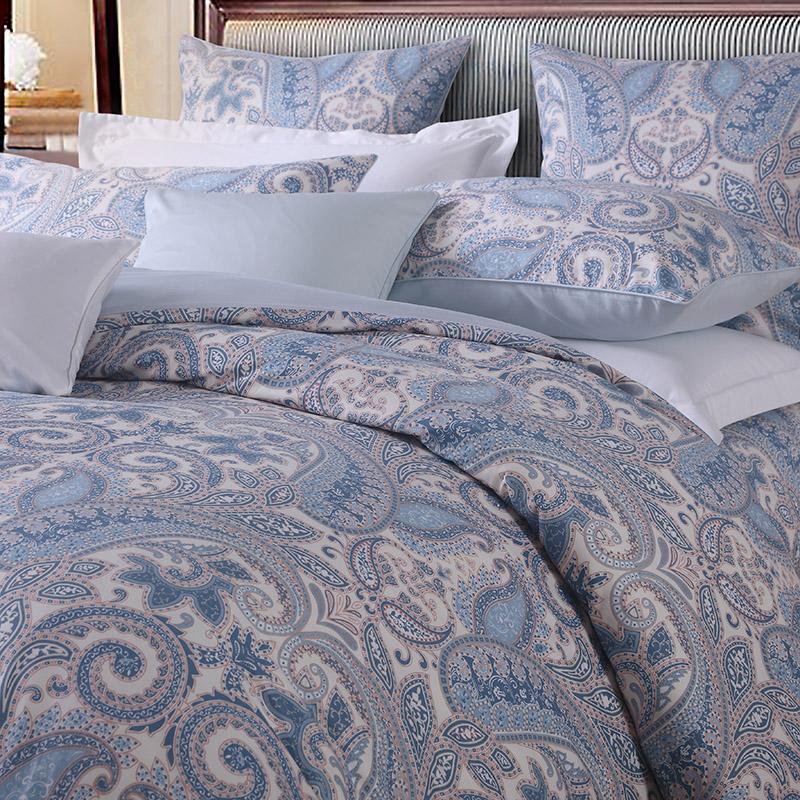 Plant European Reactive Printing Duvet Cover Set Three-Piece Set Polyester Bedding Sets