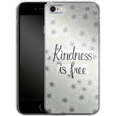 Apple iPhone 6 Silikon Handyhuelle - Kindness is Free von Barlena