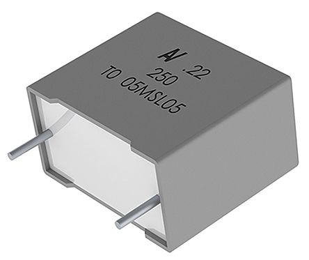 KEMET 10μF Polyester Capacitor PET 63 V ac, 100 V dc ±10% (4)