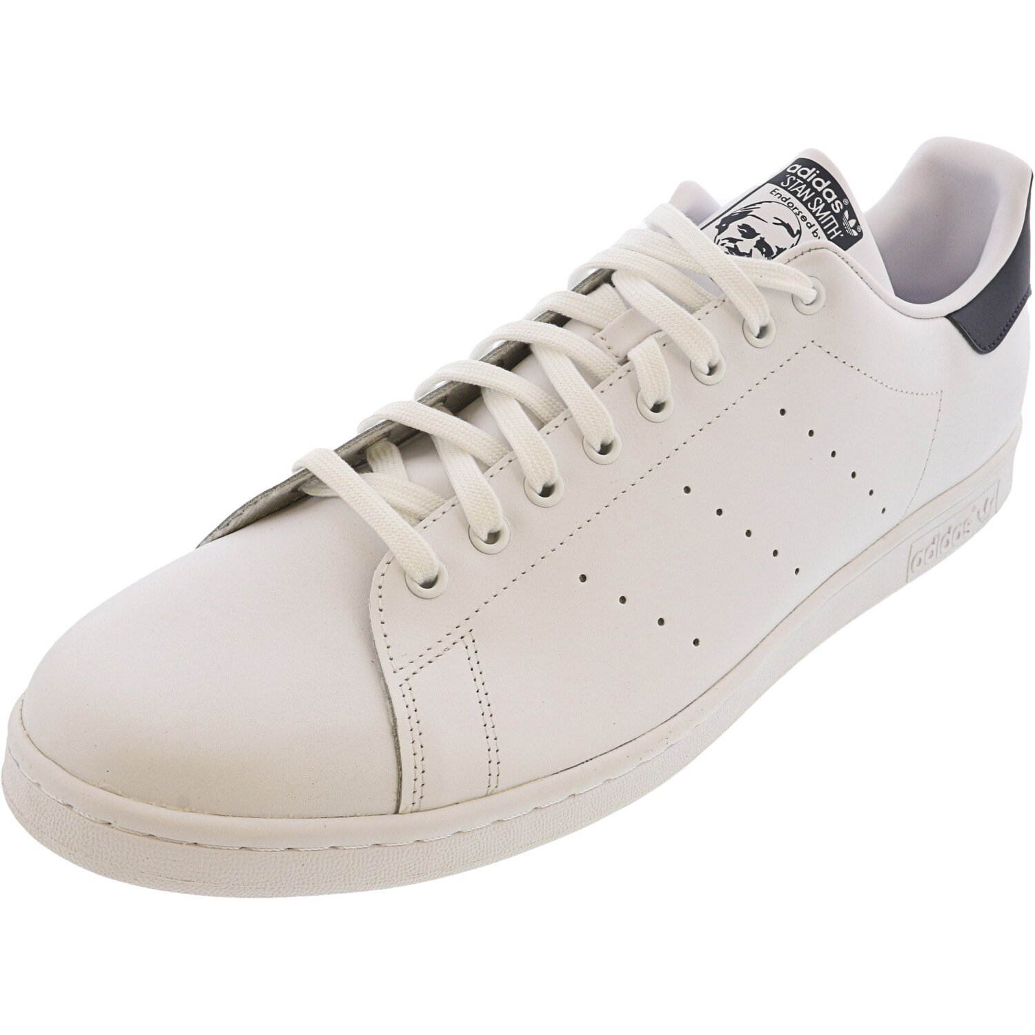 Adidas Men's Stan Smith Core White / Ankle-High Leather Sneaker - 19M
