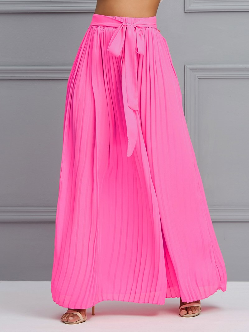 Ericdress Broomstick Pleated Plain Womens Skirt
