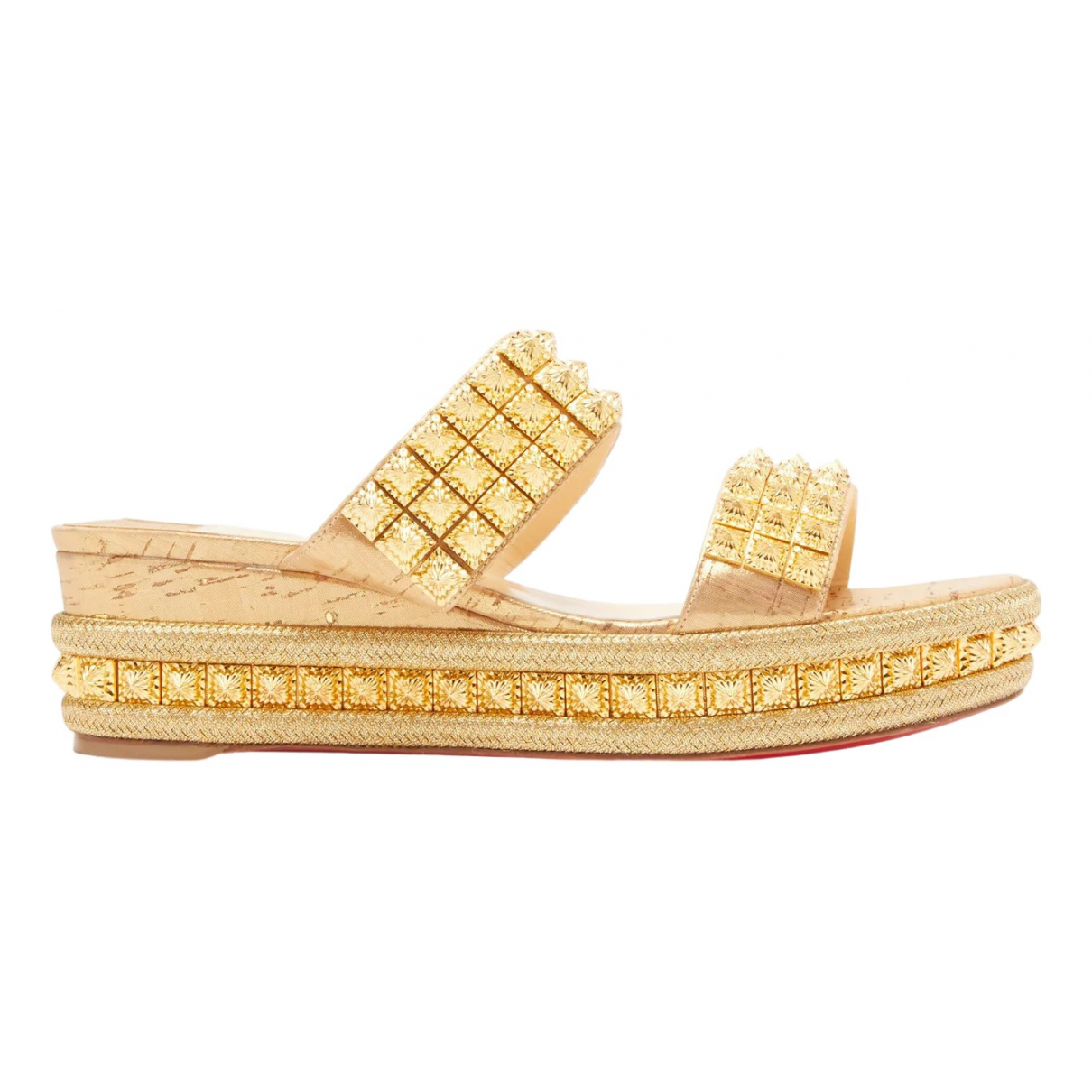 Christian Louboutin \N Gold Leather Sandals for Women 39 EU