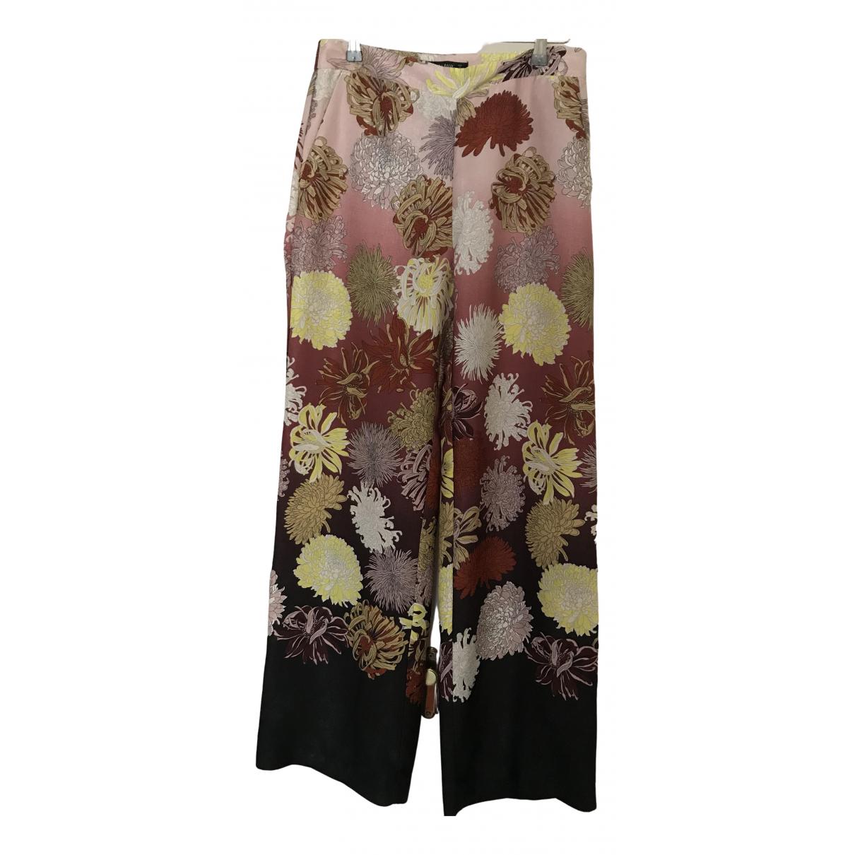 Zara \N Multicolour Trousers for Women M International