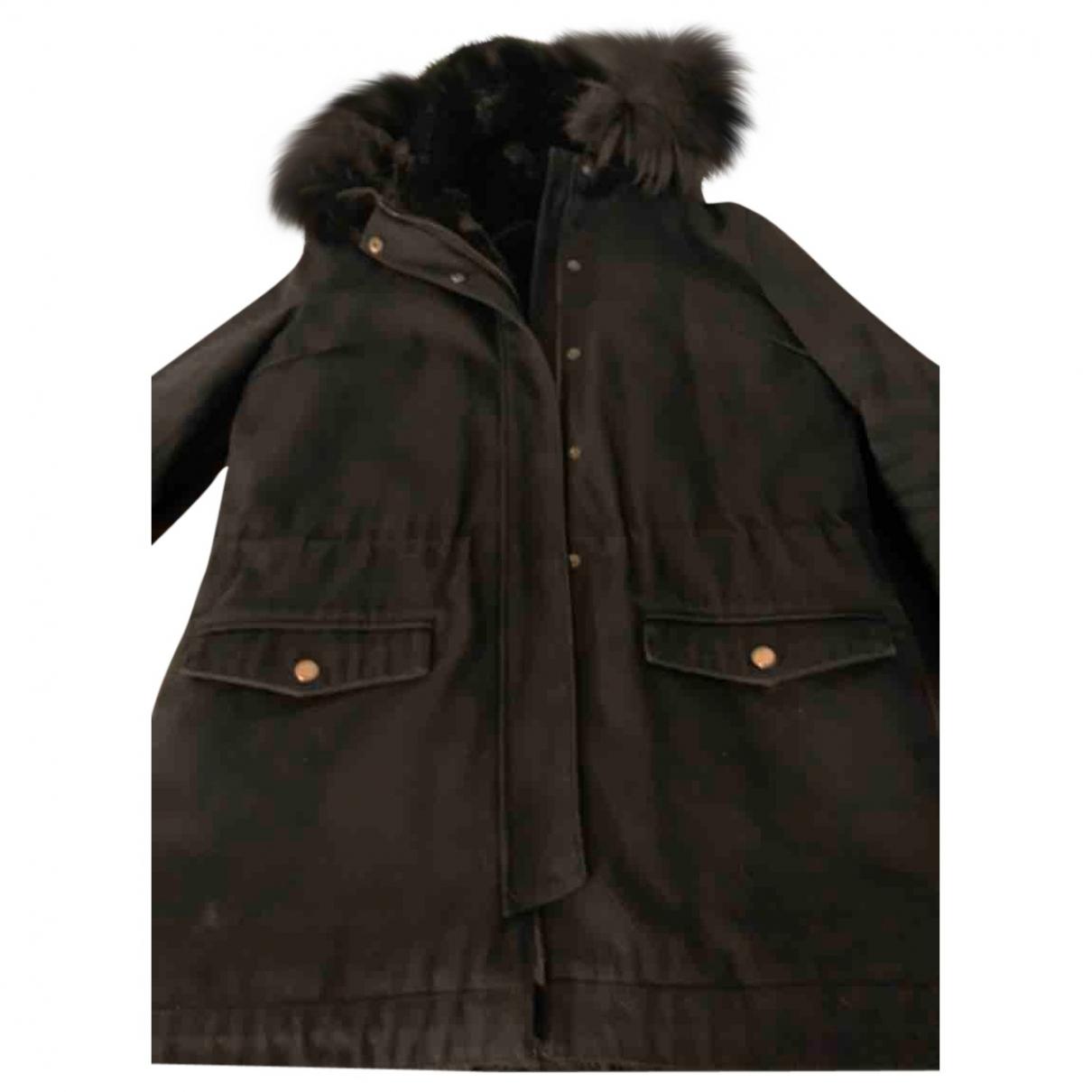 The Kooples Fall Winter 2019 Black Faux fur coat for Women 40 FR
