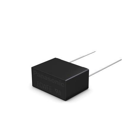 Panasonic 2.2μF Polypropylene Capacitor PP 630V dc ±10% Tolerance Through Hole ECWFE Series (200)
