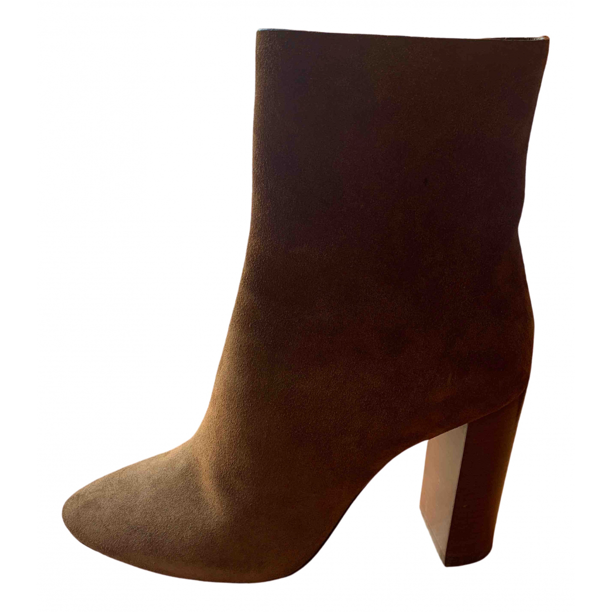 Saint Laurent Loulou Brown Suede Ankle boots for Women 36 EU