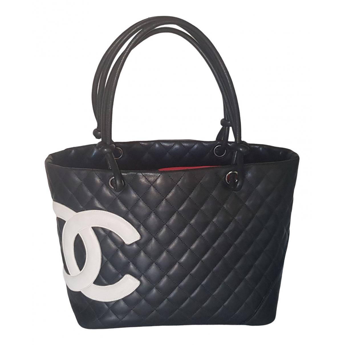 Chanel Cambon Black Leather handbag for Women \N