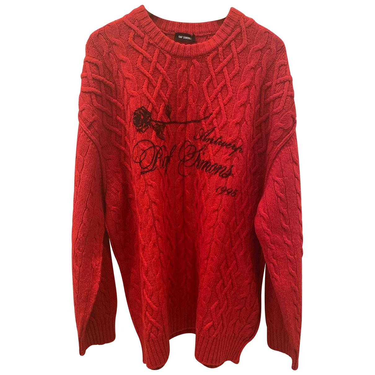 Raf Simons \N Pullover.Westen.Sweatshirts  in  Rot Wolle
