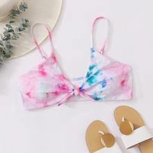 Grosse Grossen - Bikini Top mit Batik und Knoten vorn