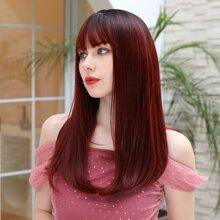 Natural Long Wig With Bangs