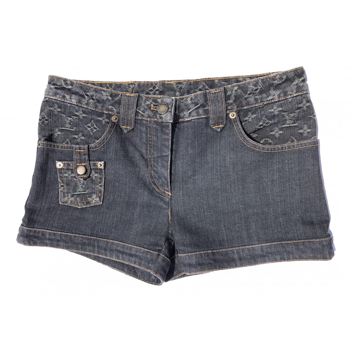 Louis Vuitton \N Shorts in  Grau Denim - Jeans