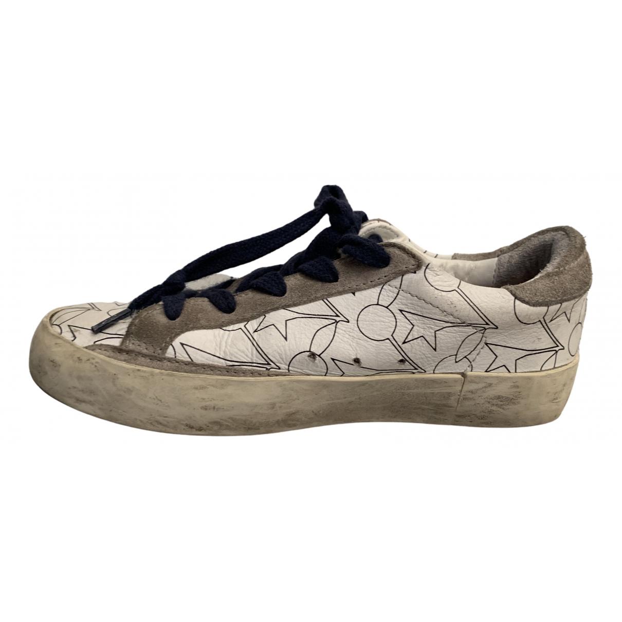 Golden Goose Francy Sneakers in  Weiss Leder