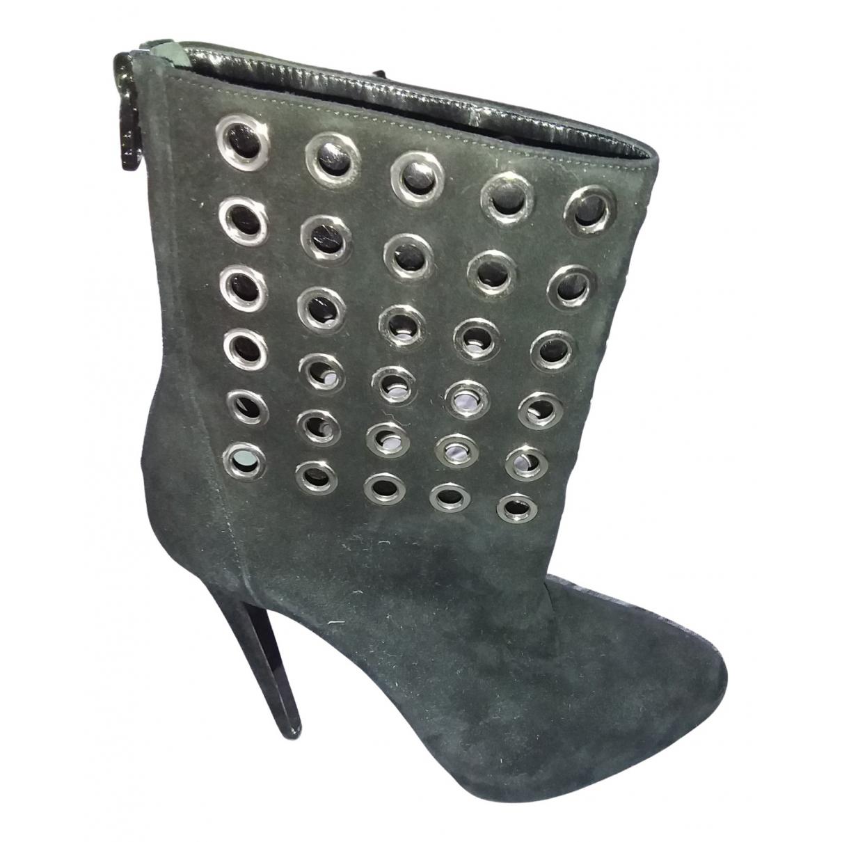 Barbara Bui N Black Suede Boots for Women 39.5 EU
