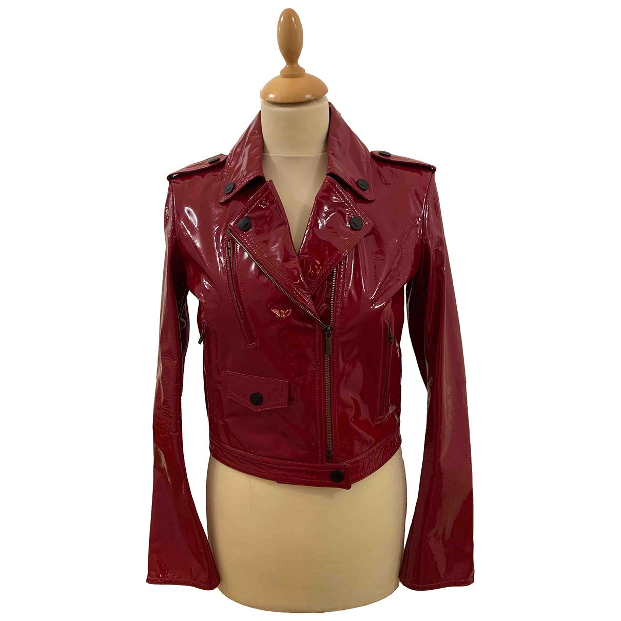 Fendi - Blouson   pour femme en cuir - rouge