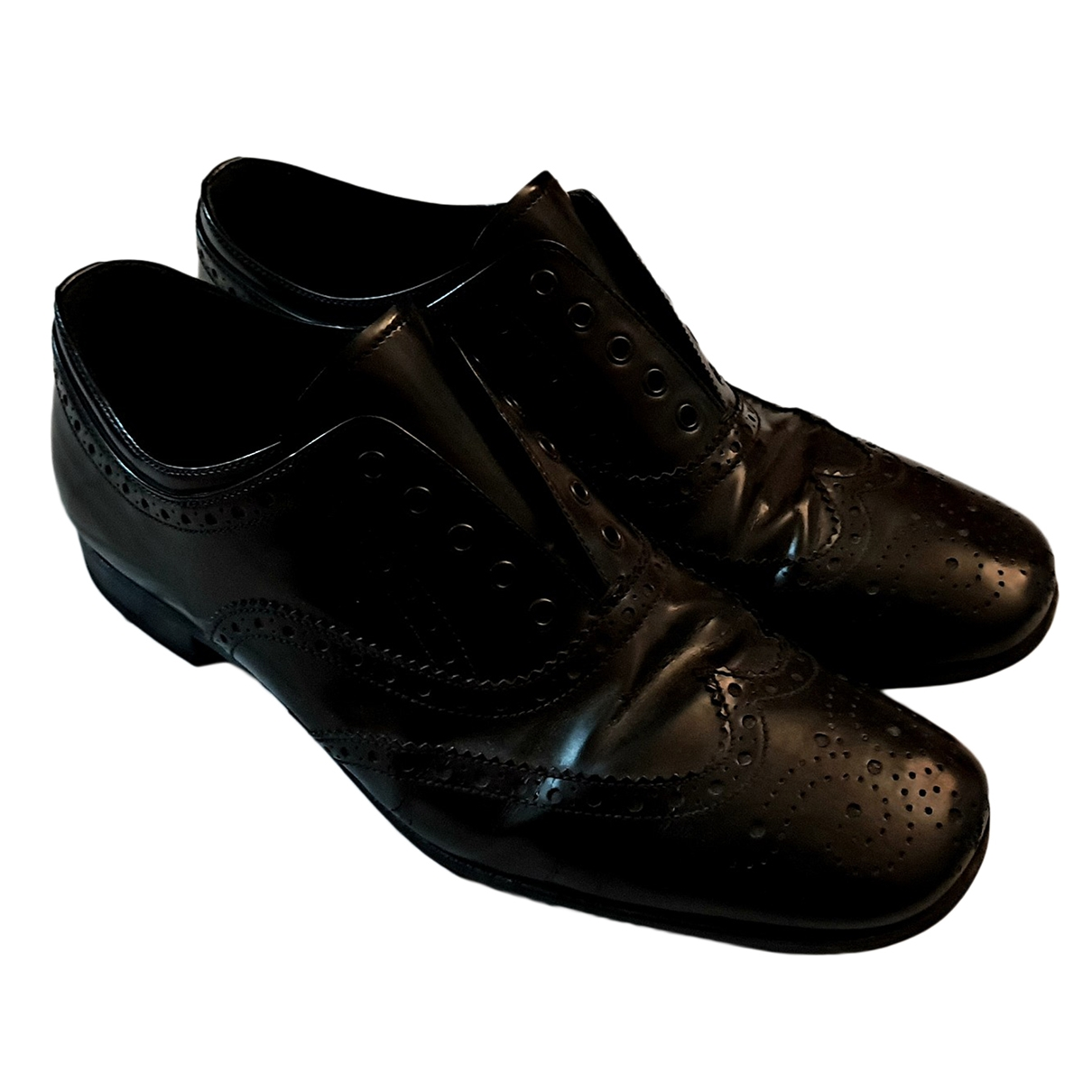 Prada - Derbies   pour homme en cuir - noir