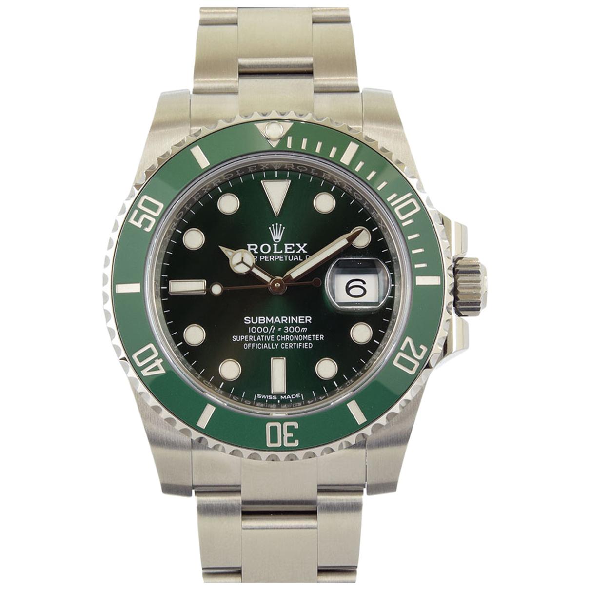 Rolex Submariner Green Steel watch for Men N