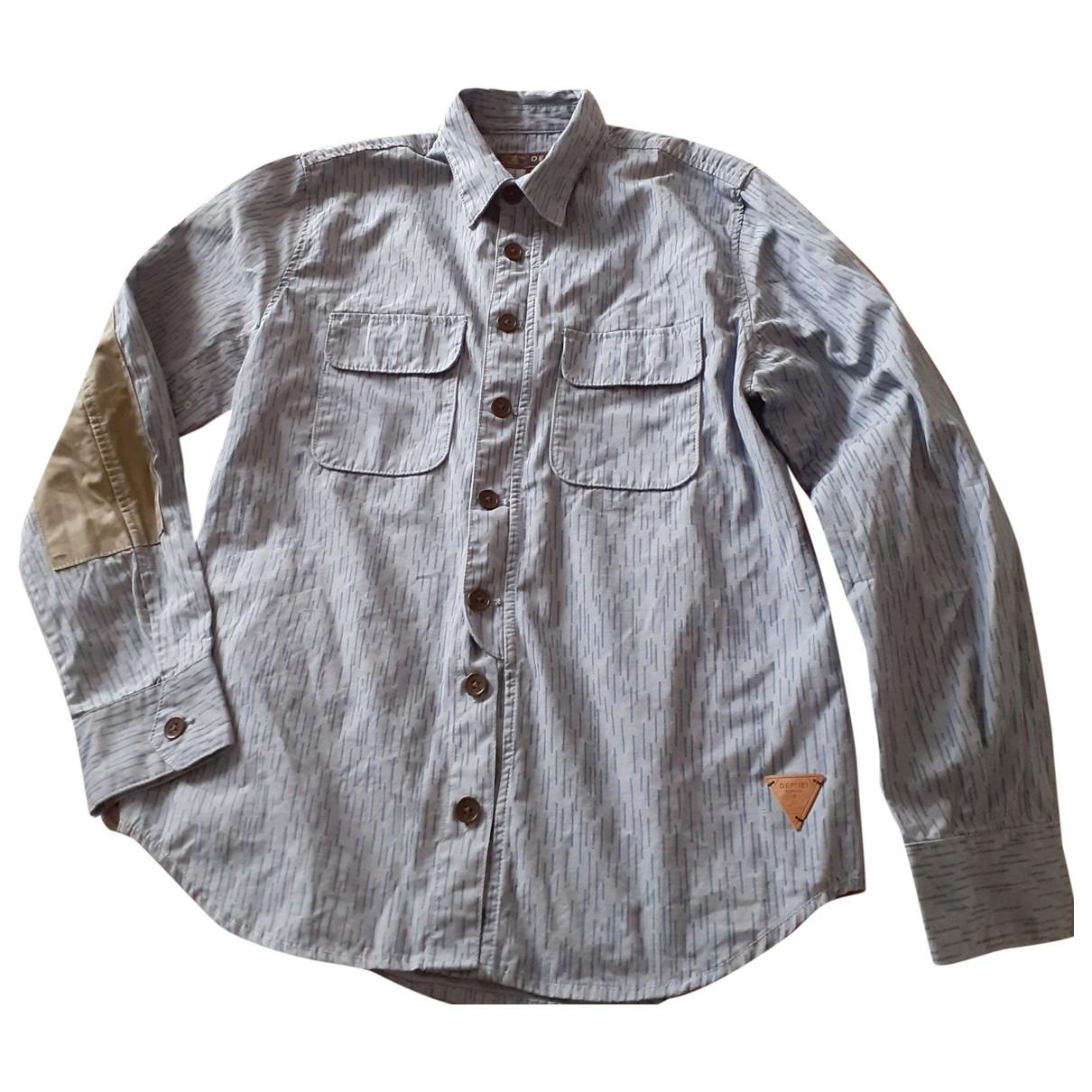 Barbour \N Blue Cotton Shirts for Men M International