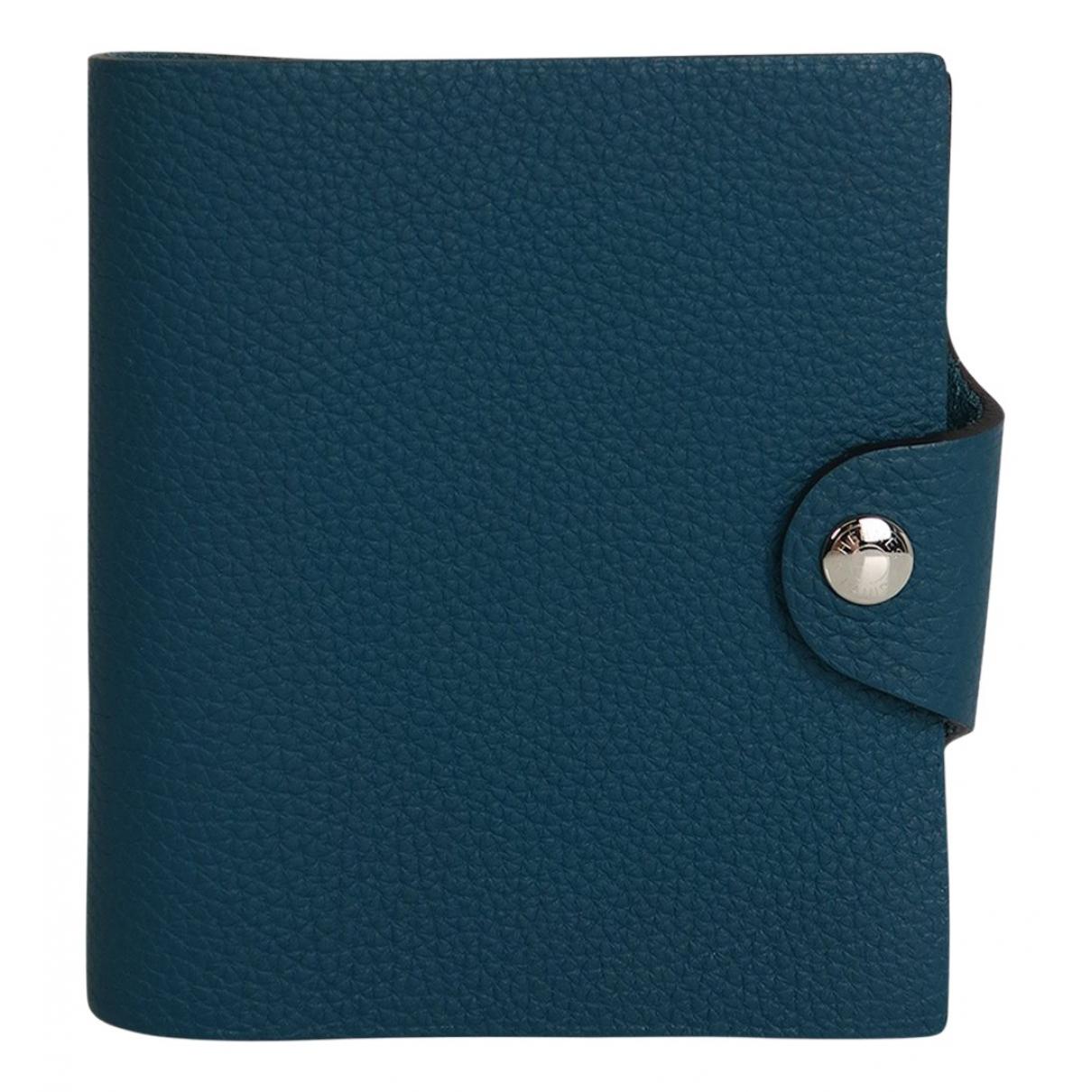 Hermes Ulysse PM Accessoires und Dekoration in  Blau Leder