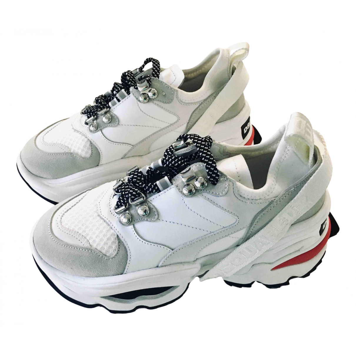 Dsquared2 \N Sneakers in  Weiss Leder