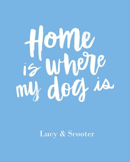 Non-Photo 16x20 Adhesive Poster, Home Décor -Home Dog