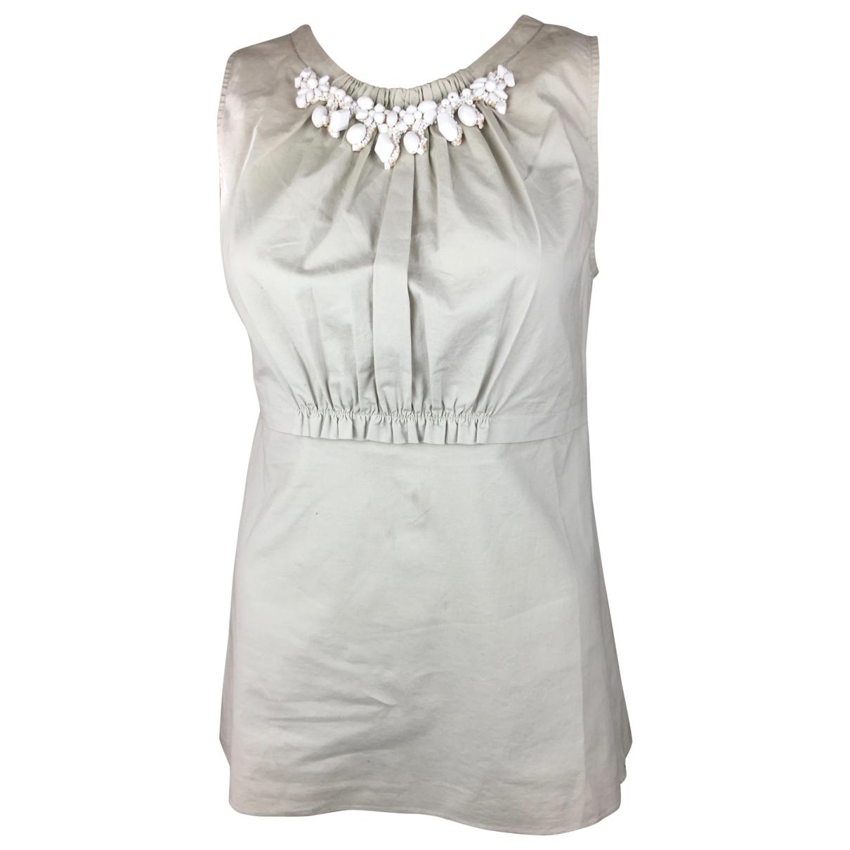Vera Wang - Top   pour femme en coton - beige