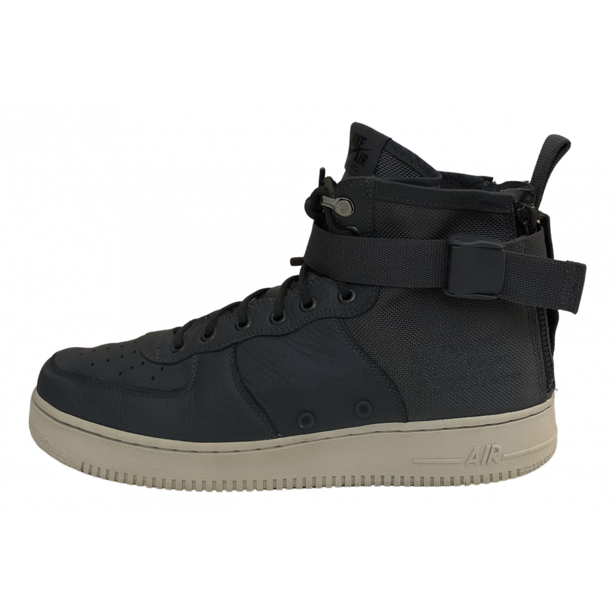 Nike SF Air Force 1 Grey Leather Trainers for Men 45 EU