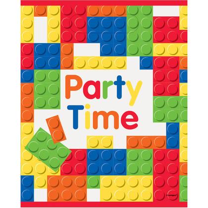Building Blocks Birthday Loot Bags, 8ct Pour la fête d'anniversaire