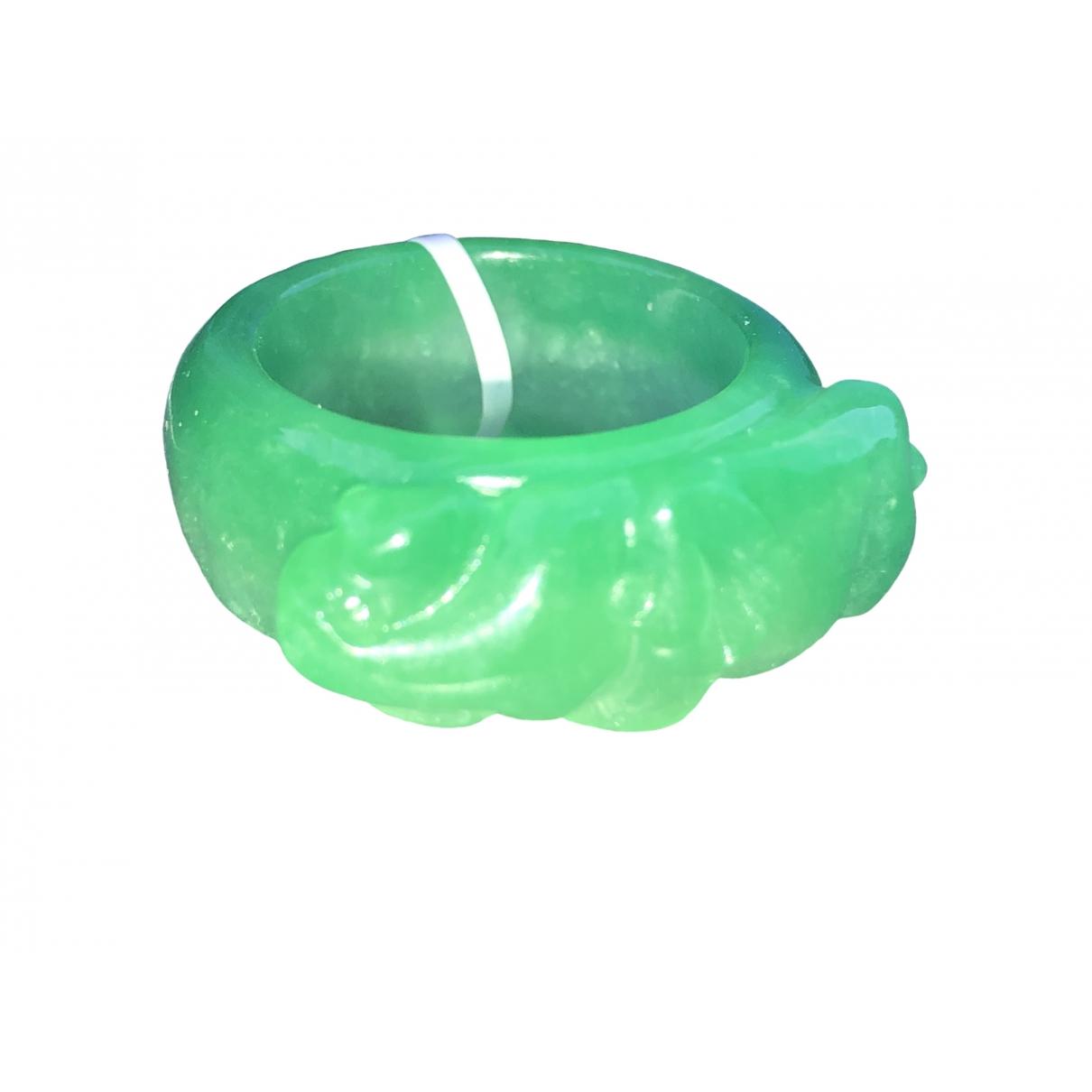 - Bague Motifs Ethniques pour femme en jade - vert