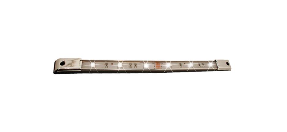 Race Sport Lighting MS-U30LEDC9.5-W White 9.5 Inch Marine LED Custom Accent Bar