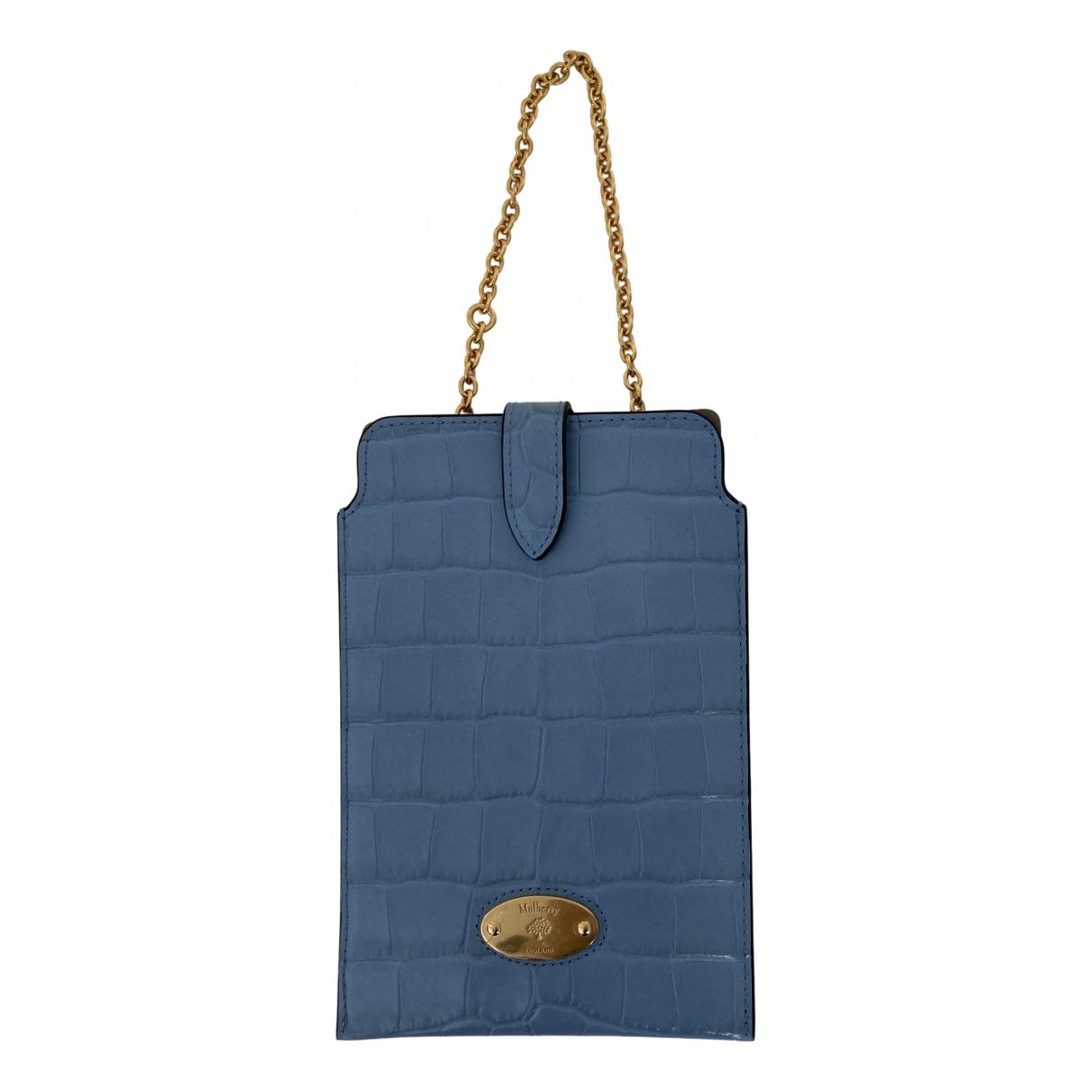 Mulberry - Petite maroquinerie   pour femme en cuir - bleu