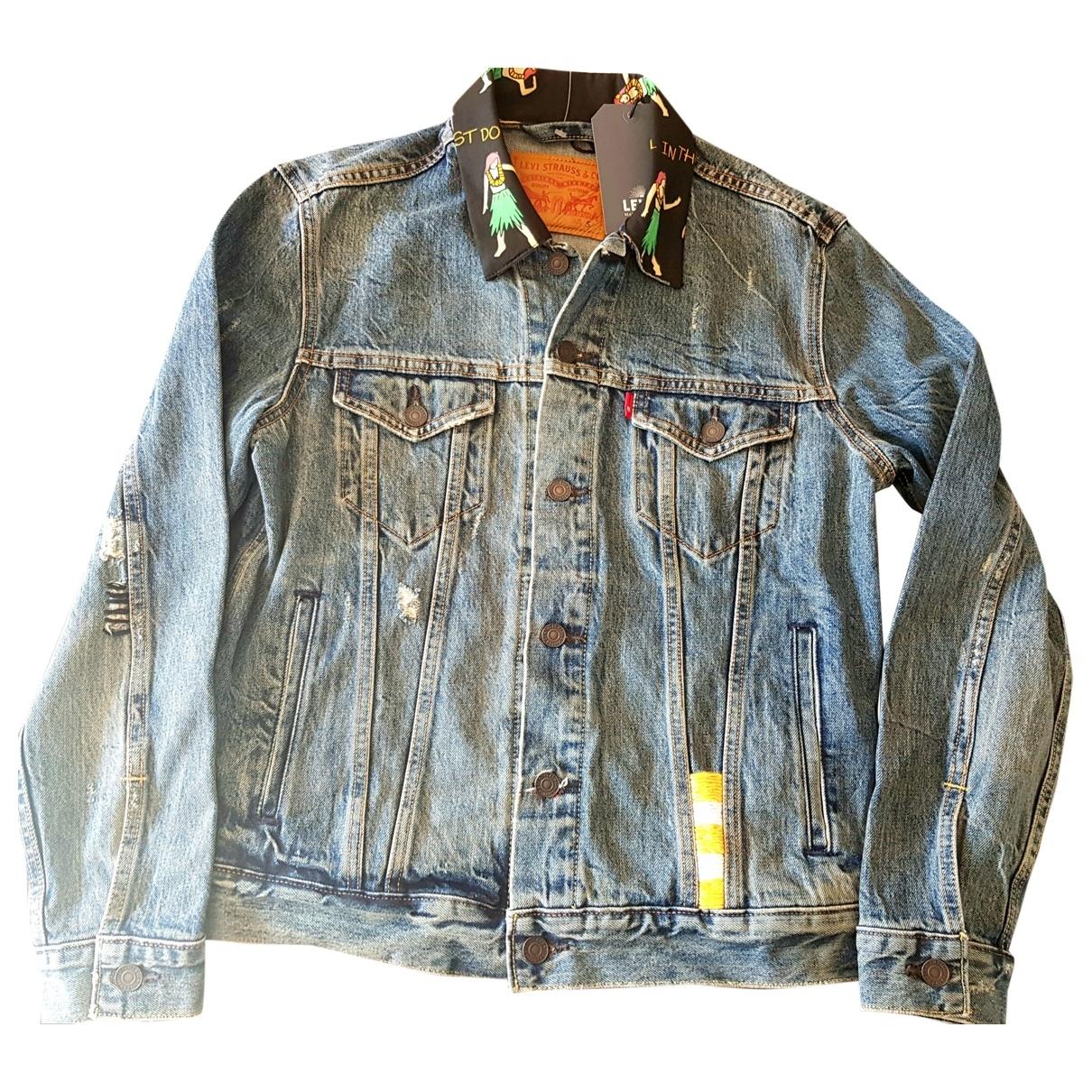 Levi's \N Blue Cotton jacket for Women 36 FR