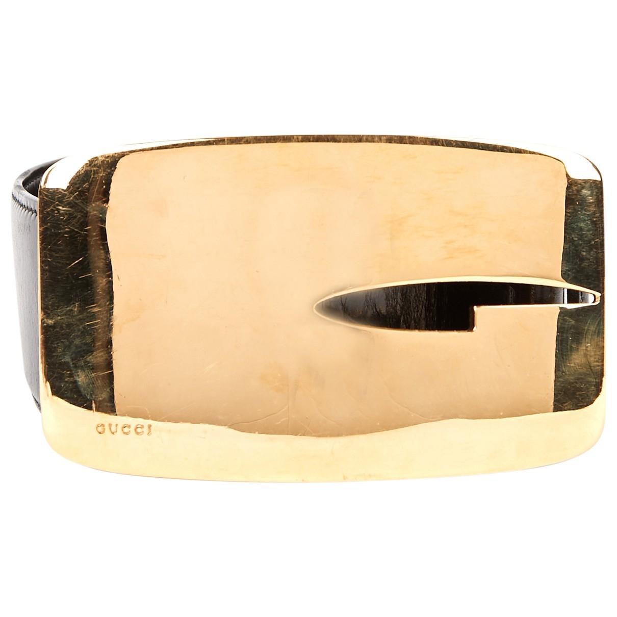 Gucci \N Black Leather belt for Women 75 cm