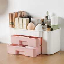 1pc Color Block Cosmetic Storage Box