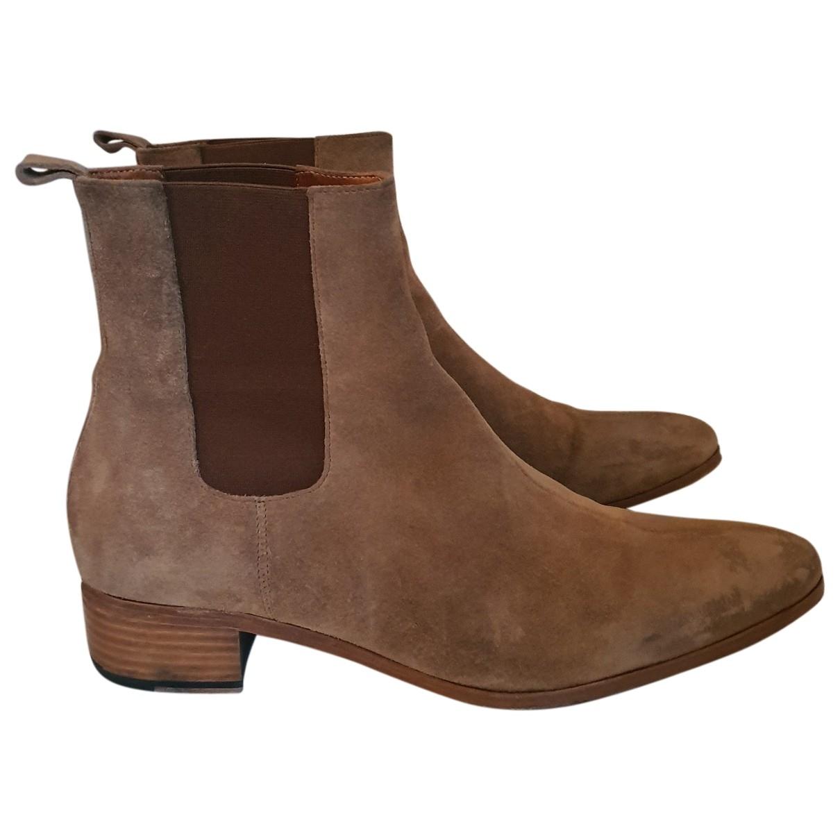 The Kooples \N Beige Suede Boots for Men 44 EU