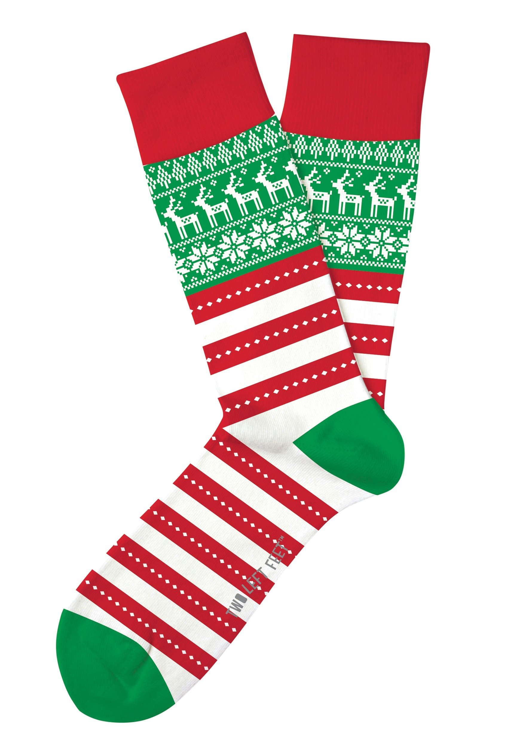 Two Left Feet Oh So Ugly Christmas Sweater Socks