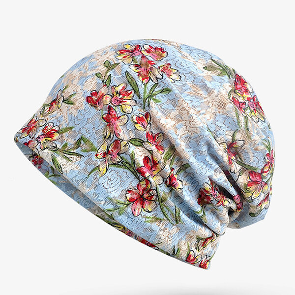 Women Pregnant Month Hat High Elastic Lace Hollow Jacquard Breathable Sunscreen Beanies Hat