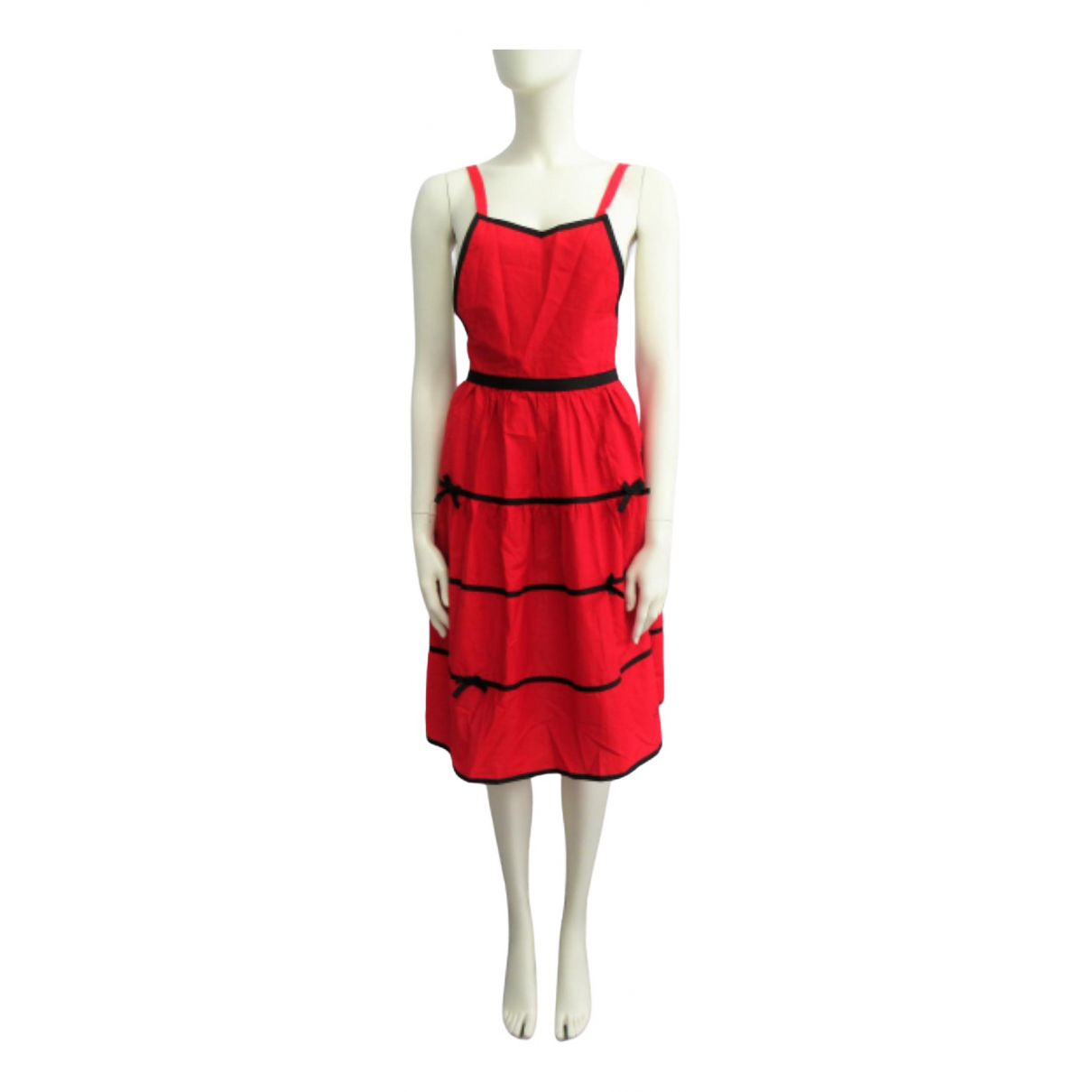 Yves Saint Laurent \N Kleid in  Rot Synthetik