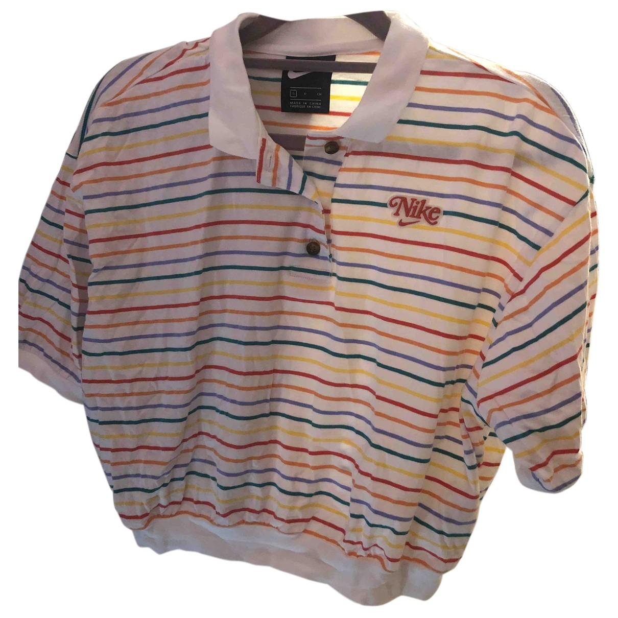 Nike - Top   pour femme en coton - multicolore