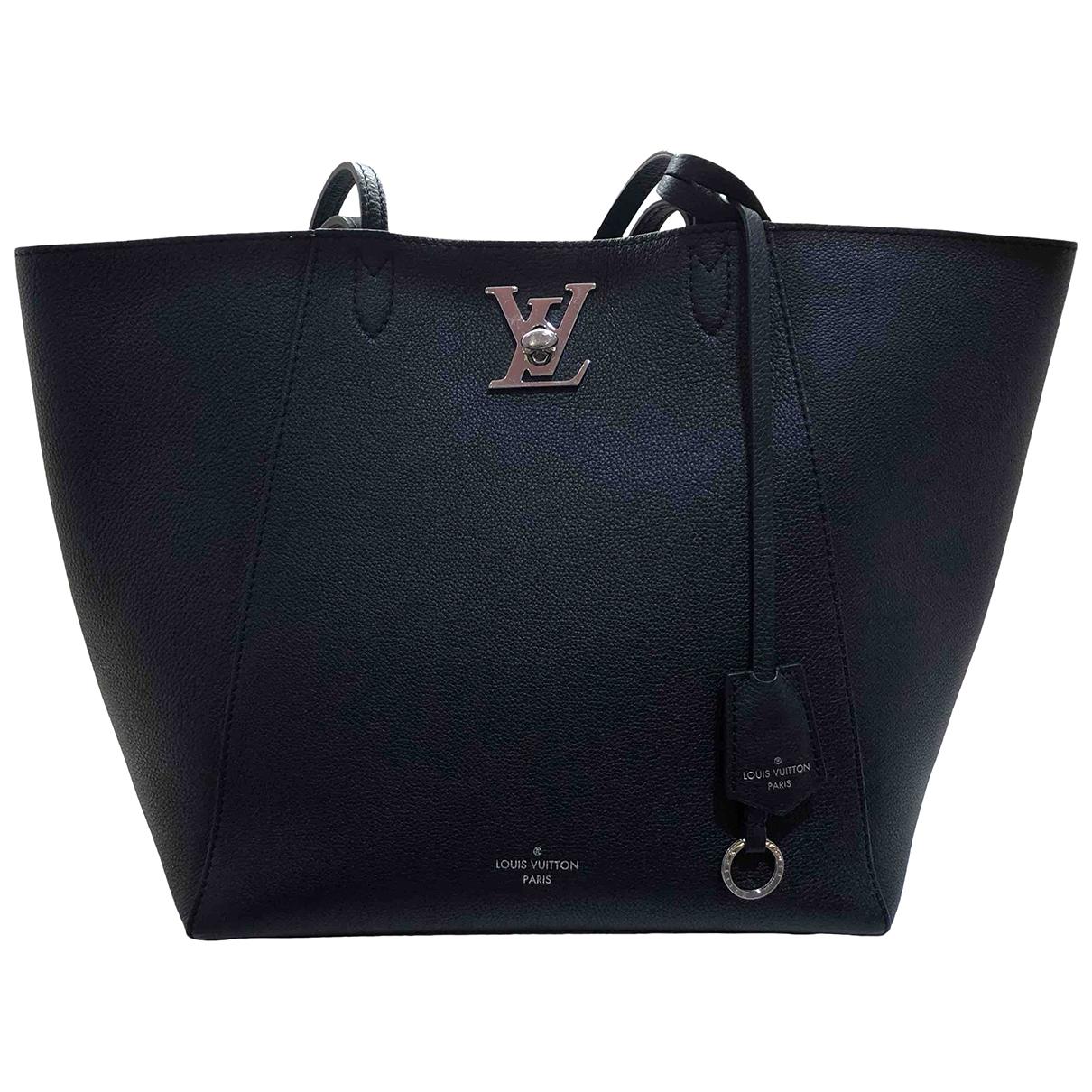 Louis Vuitton - Sac a main Lockme pour femme en cuir - noir