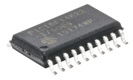 Microchip PIC18F14K22-I/SO, 8bit PIC Microcontroller, PIC18F, 64MHz, 16 kB, 256 B Flash, 20-Pin SOIC (2)