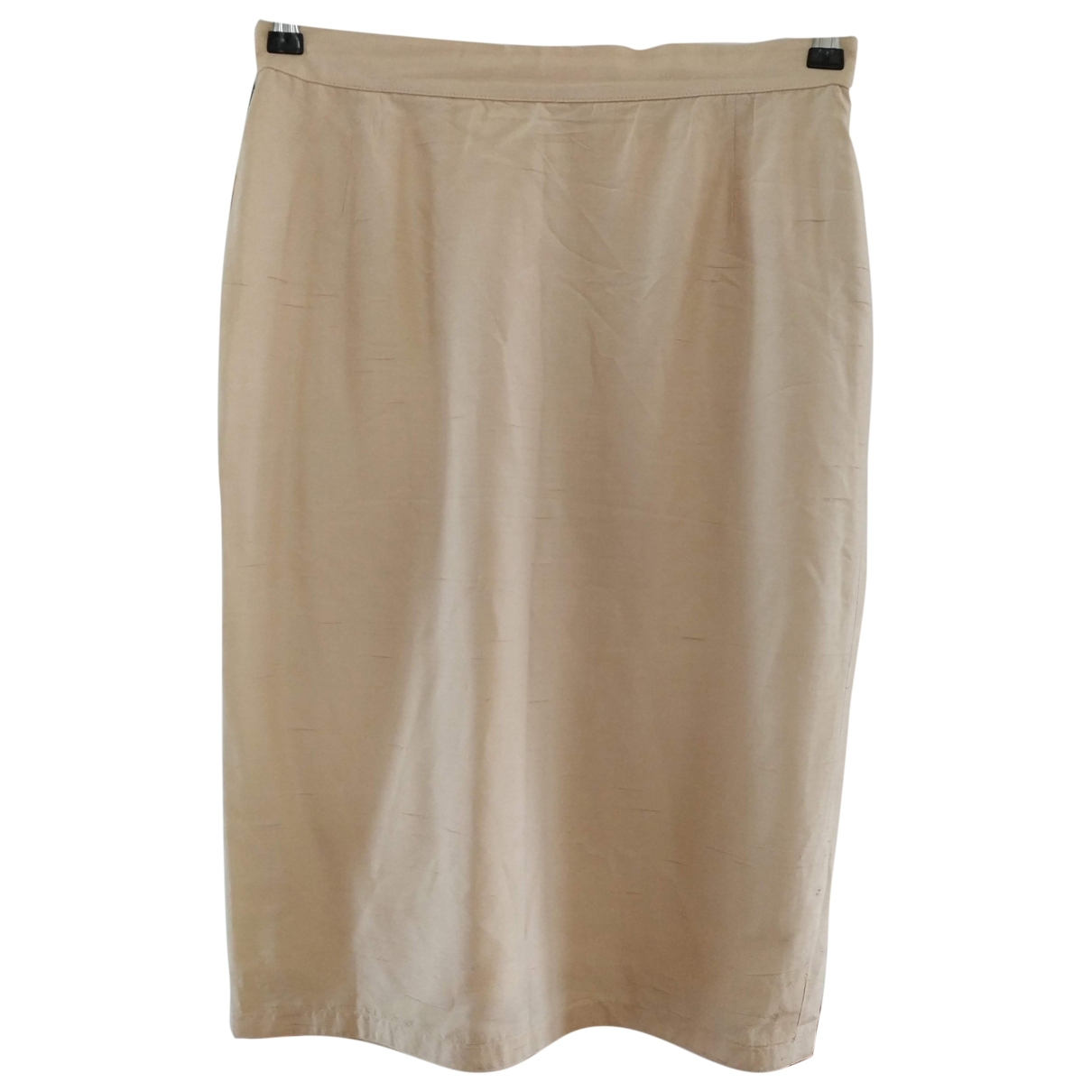Non Signé / Unsigned \N Ecru Silk skirt for Women 44 IT