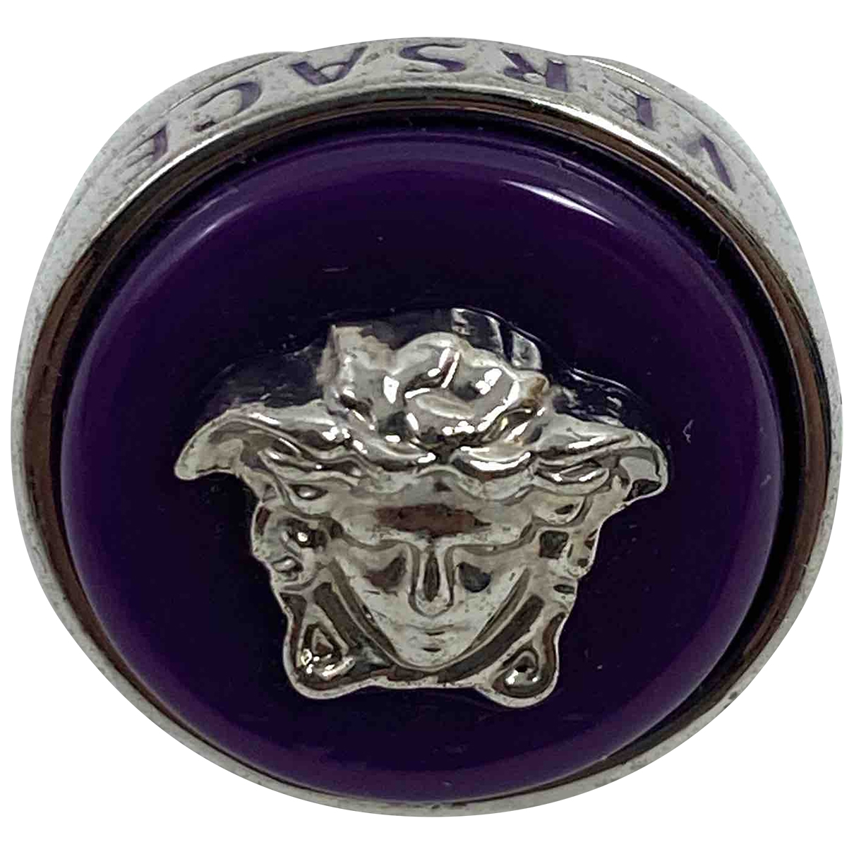 Versace Medusa Purple Steel ring for Women \N