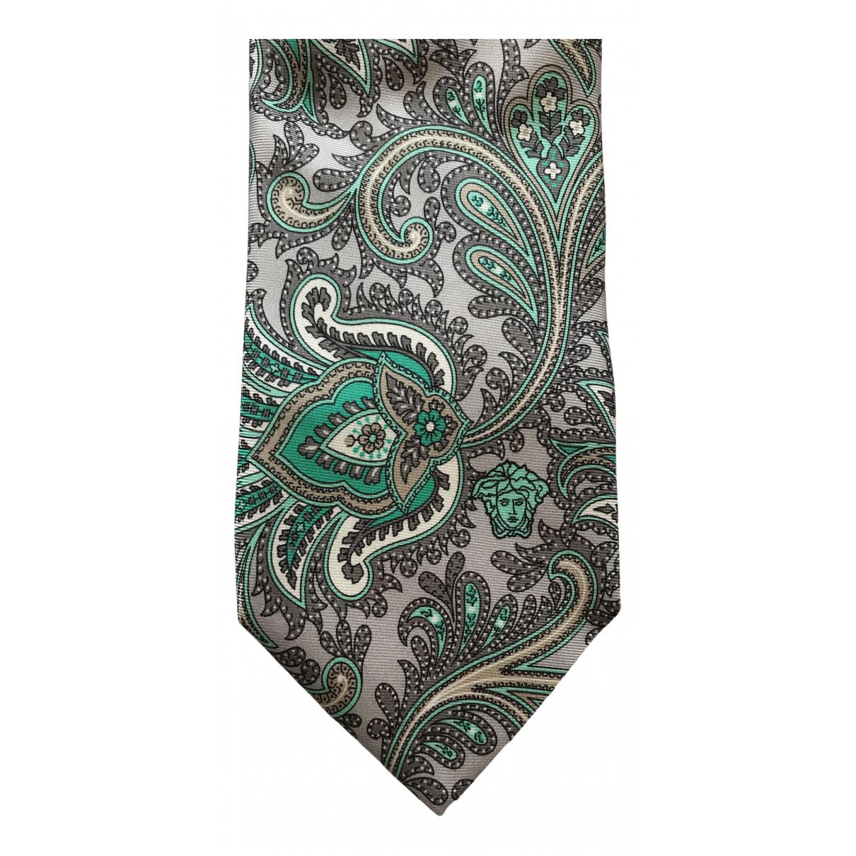 Versace N Green Silk Ties for Men N